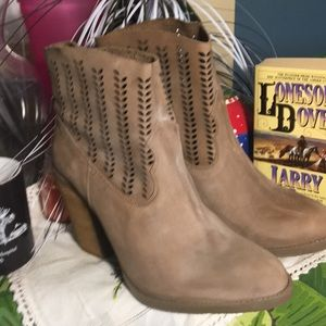 New Coolway 9 Tan Heeled Booties